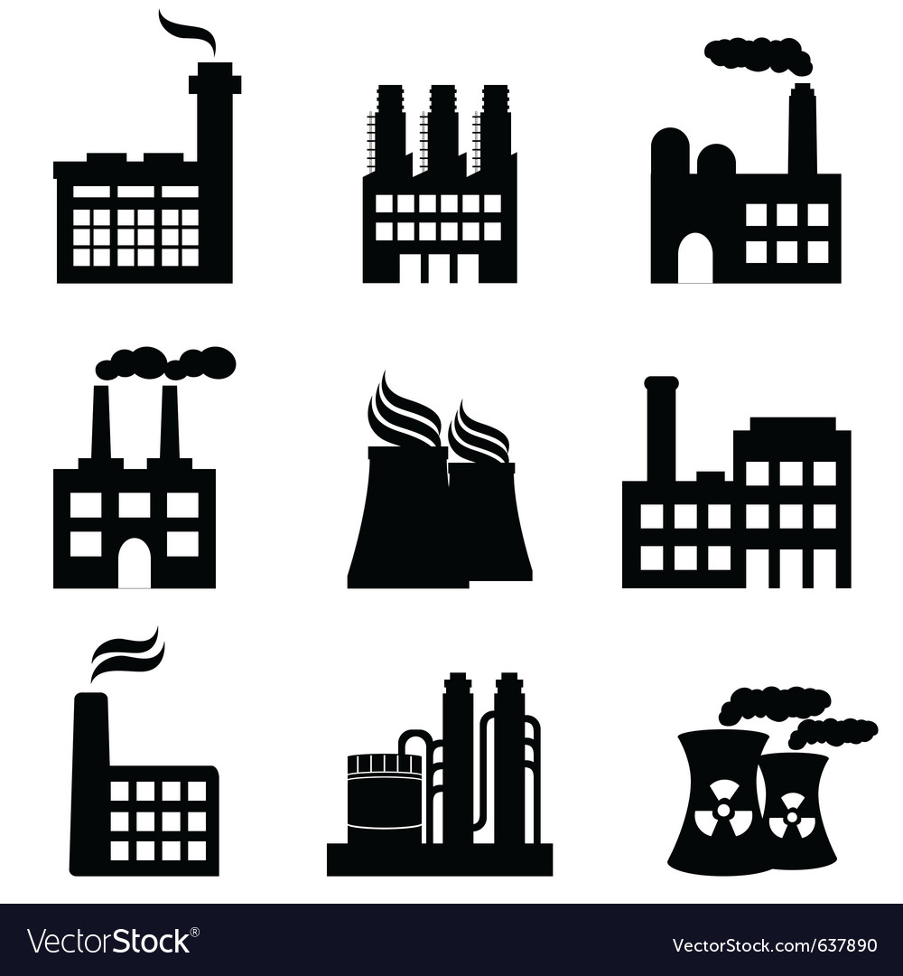 Nuclear energy icons vector | Price: 1 Credit (USD $1)