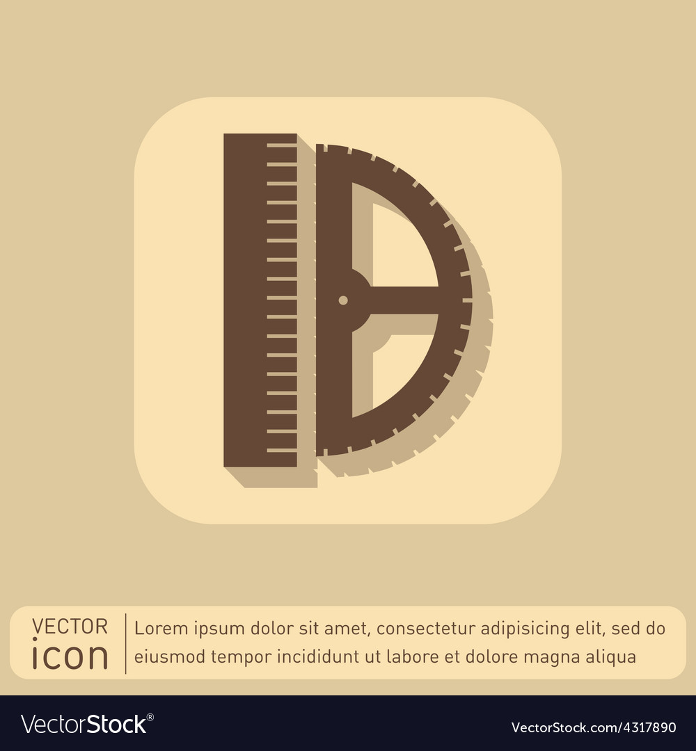 Ruler and protractor characters geometry vector | Price: 1 Credit (USD $1)
