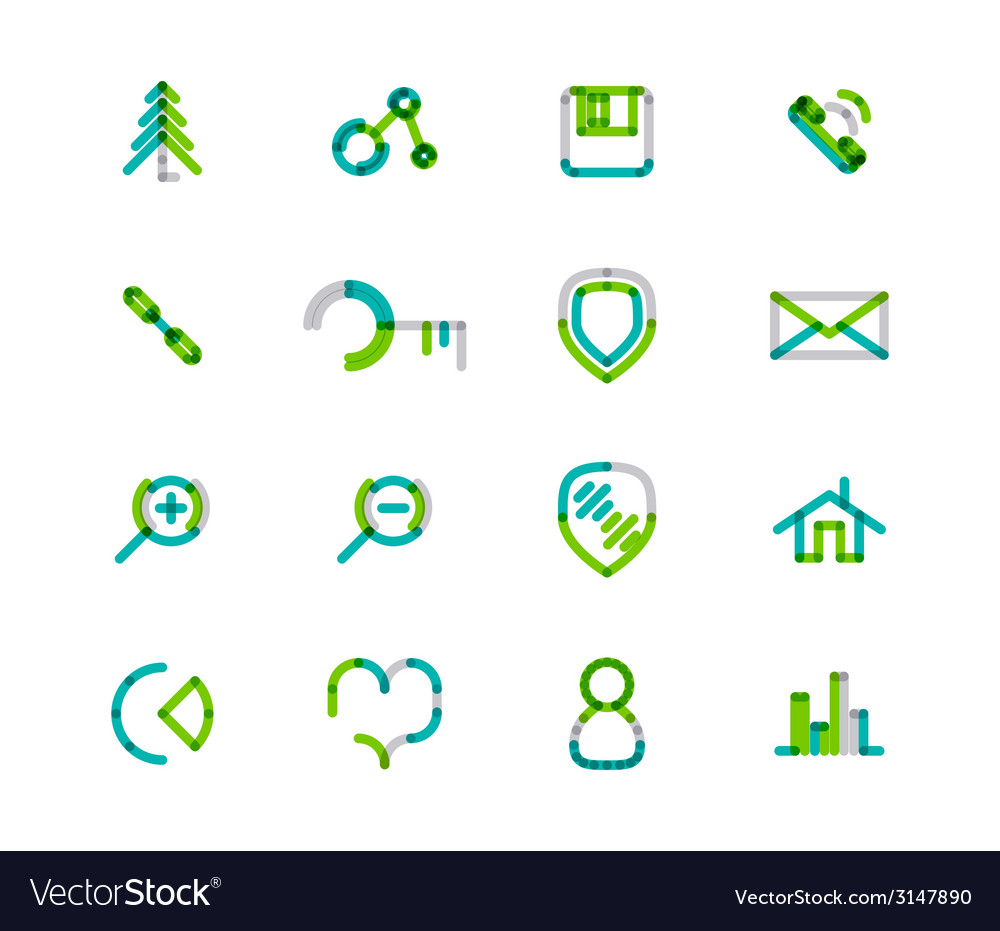 Set of thin line web icons vector | Price: 1 Credit (USD $1)