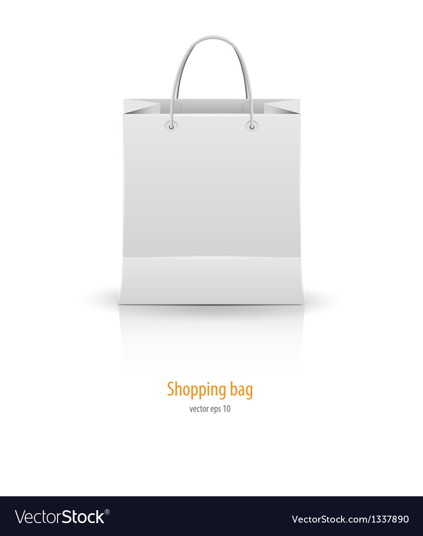 Shopping paper bag vector | Price: 1 Credit (USD $1)