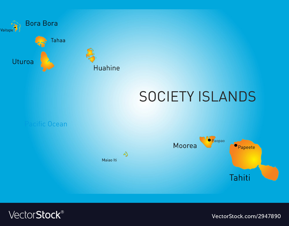 Society island vector | Price: 1 Credit (USD $1)