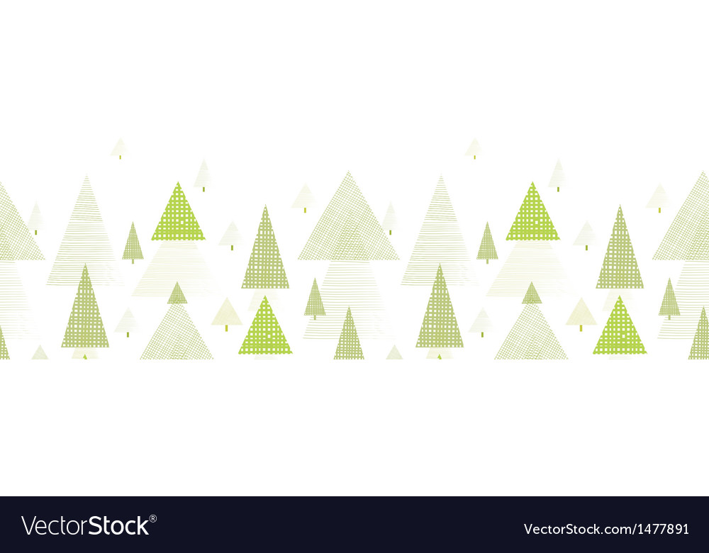Abstract pine tree forest horizontal seamless vector | Price: 1 Credit (USD $1)