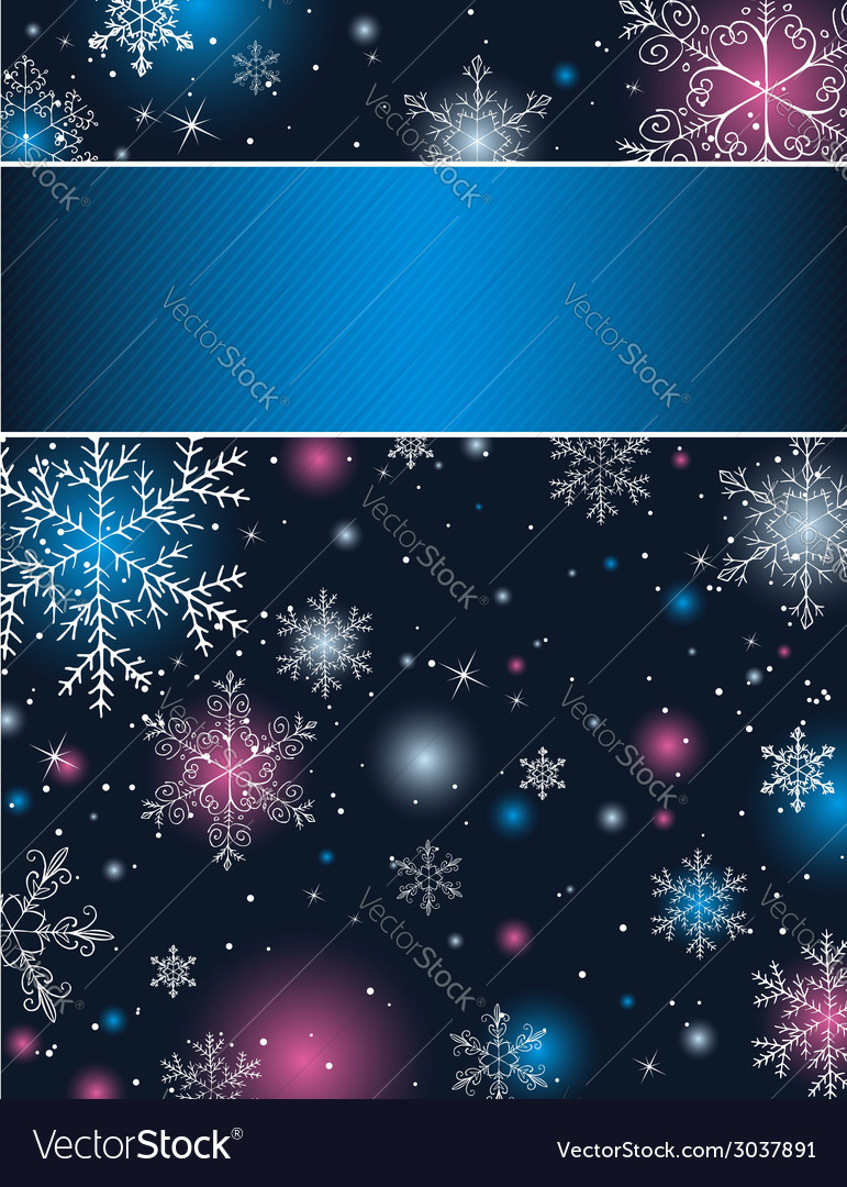 Color christmas background with snowflakes vector | Price: 1 Credit (USD $1)
