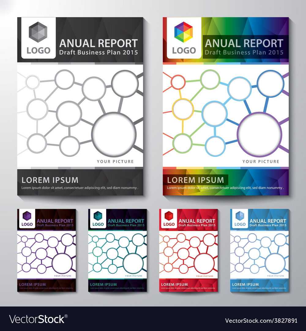 Cover annual report set vector | Price: 1 Credit (USD $1)