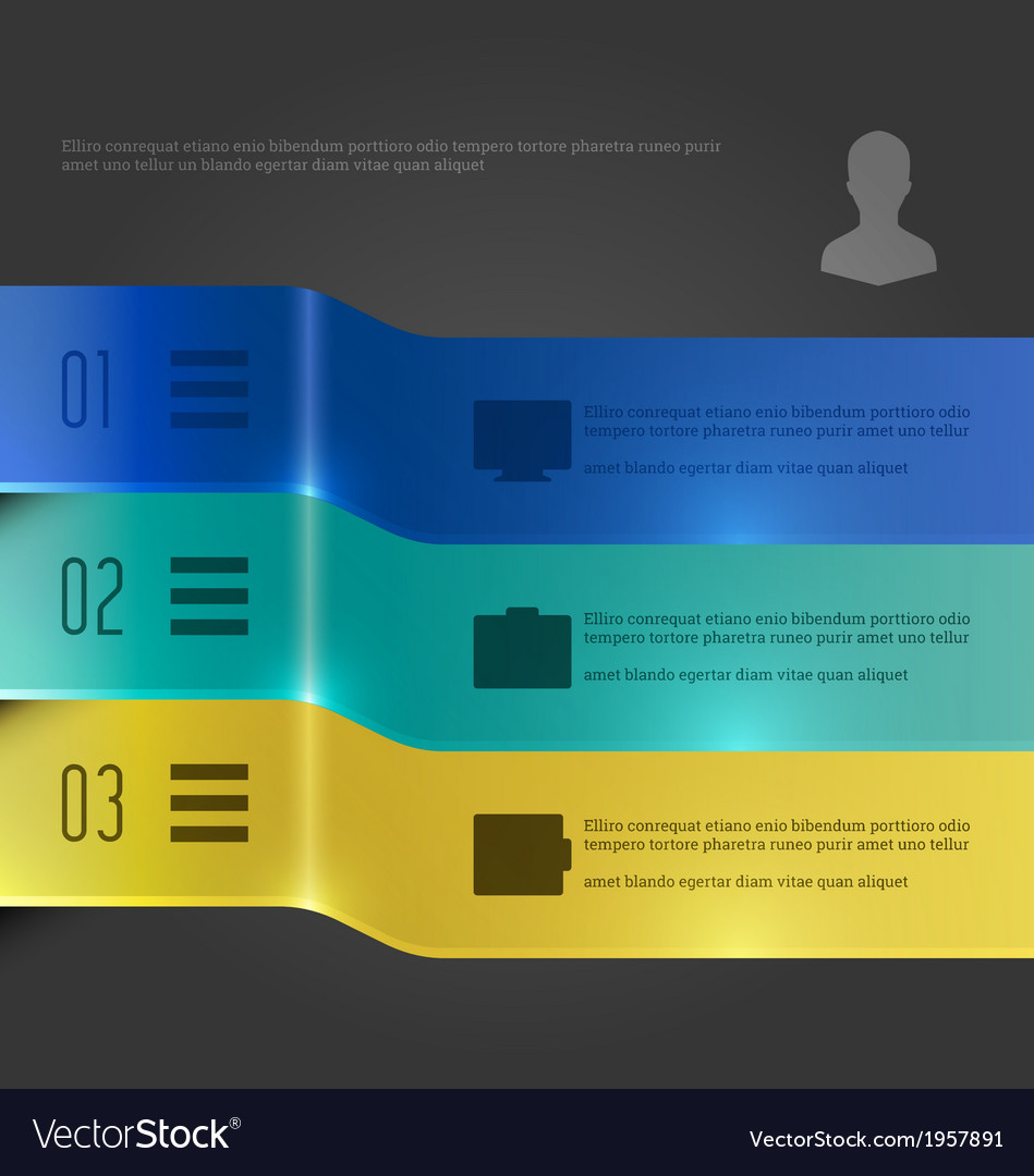 Creative infographic banners chart diagram vector | Price: 1 Credit (USD $1)