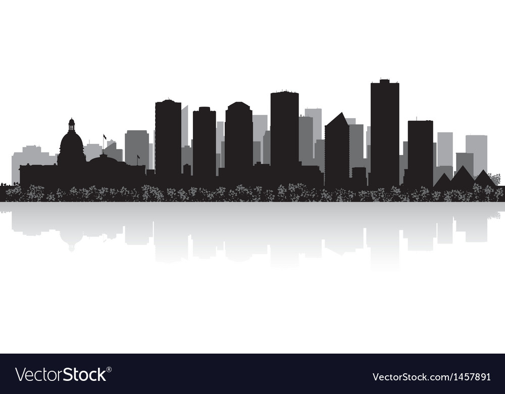 Edmonton canada city skyline silhouette vector | Price: 1 Credit (USD $1)