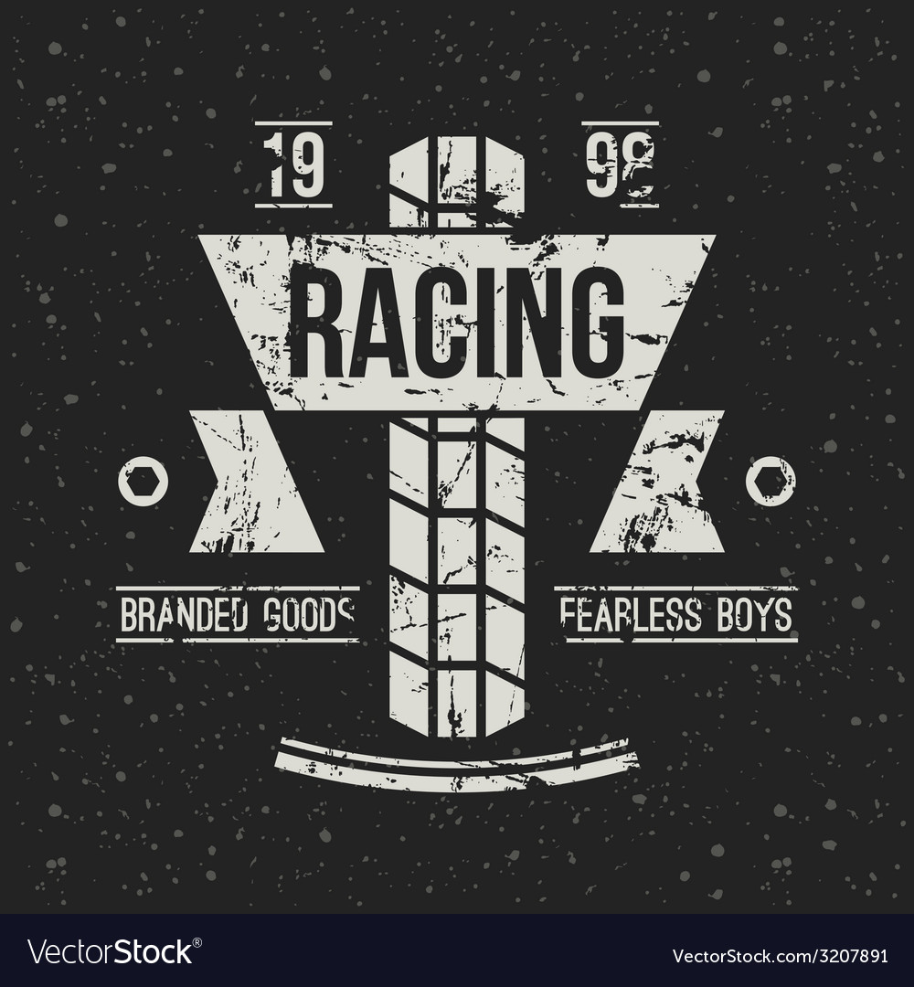 Emblem motorcycle racing club in retro style vector | Price: 1 Credit (USD $1)