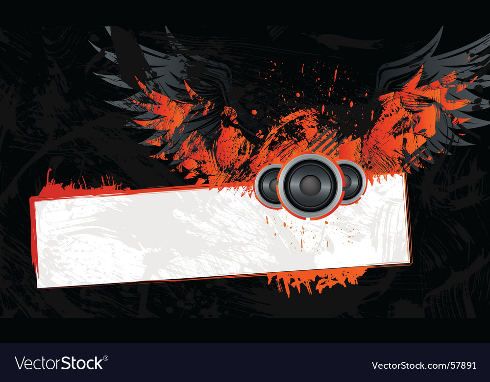 Grunge frame with wings vector   Price: 1 Credit (USD $1)