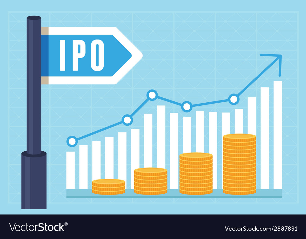 Ipo initial public offering concept vector | Price: 1 Credit (USD $1)