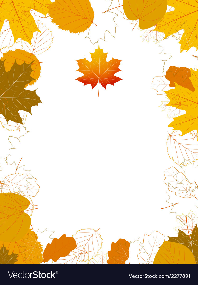 Isolated autumn leaves card with maple plus eps10 vector | Price: 1 Credit (USD $1)