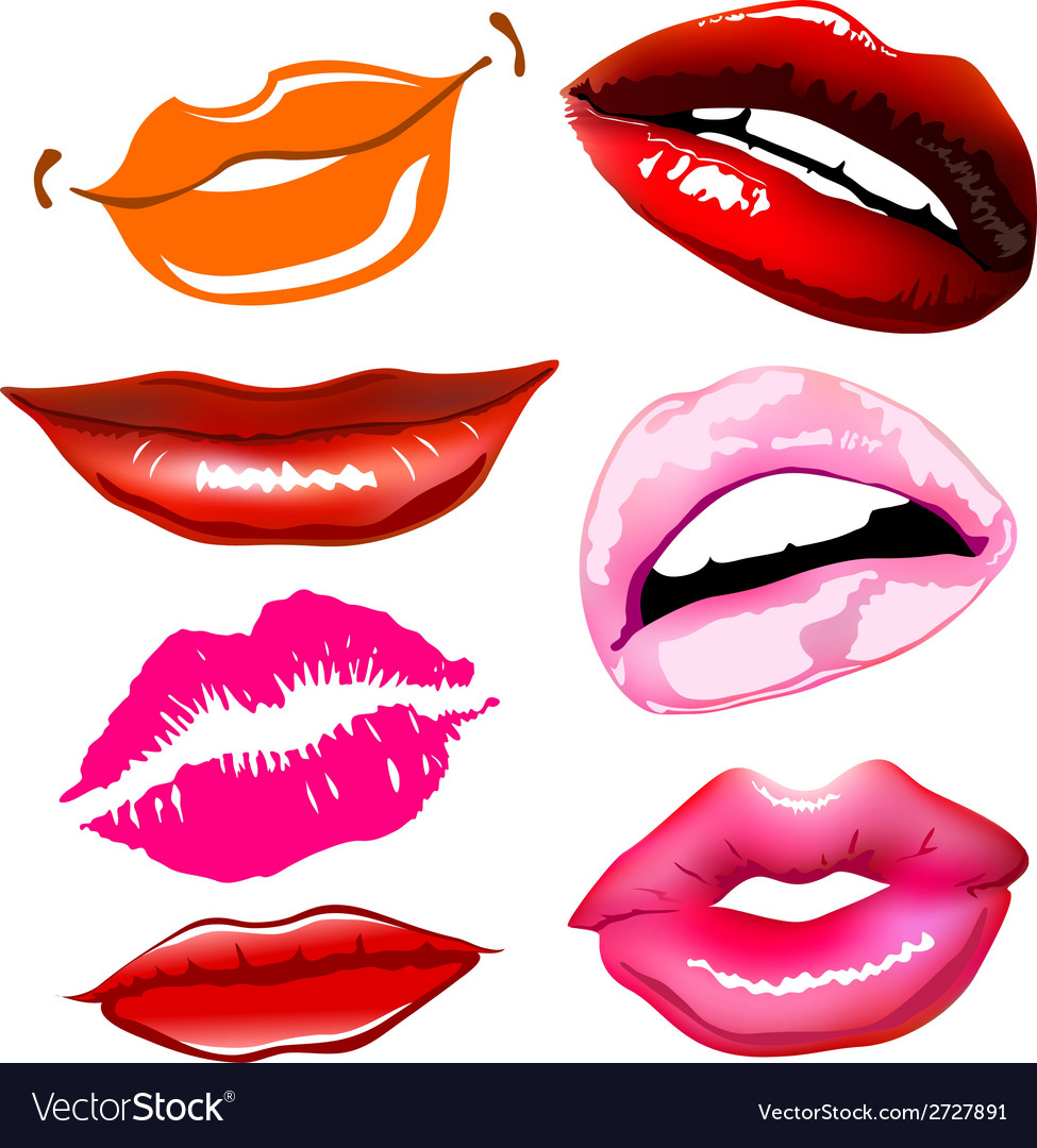 Lips sex pink icon women vector | Price: 1 Credit (USD $1)