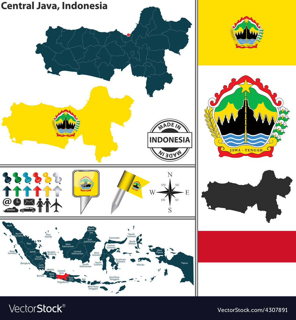 Map of central java vector | Price: 1 Credit (USD $1)