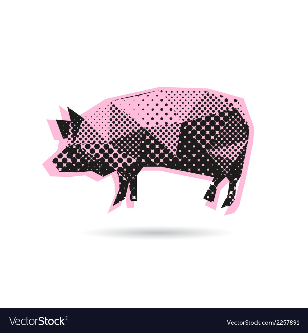 Pig abstract isolated vector | Price: 1 Credit (USD $1)