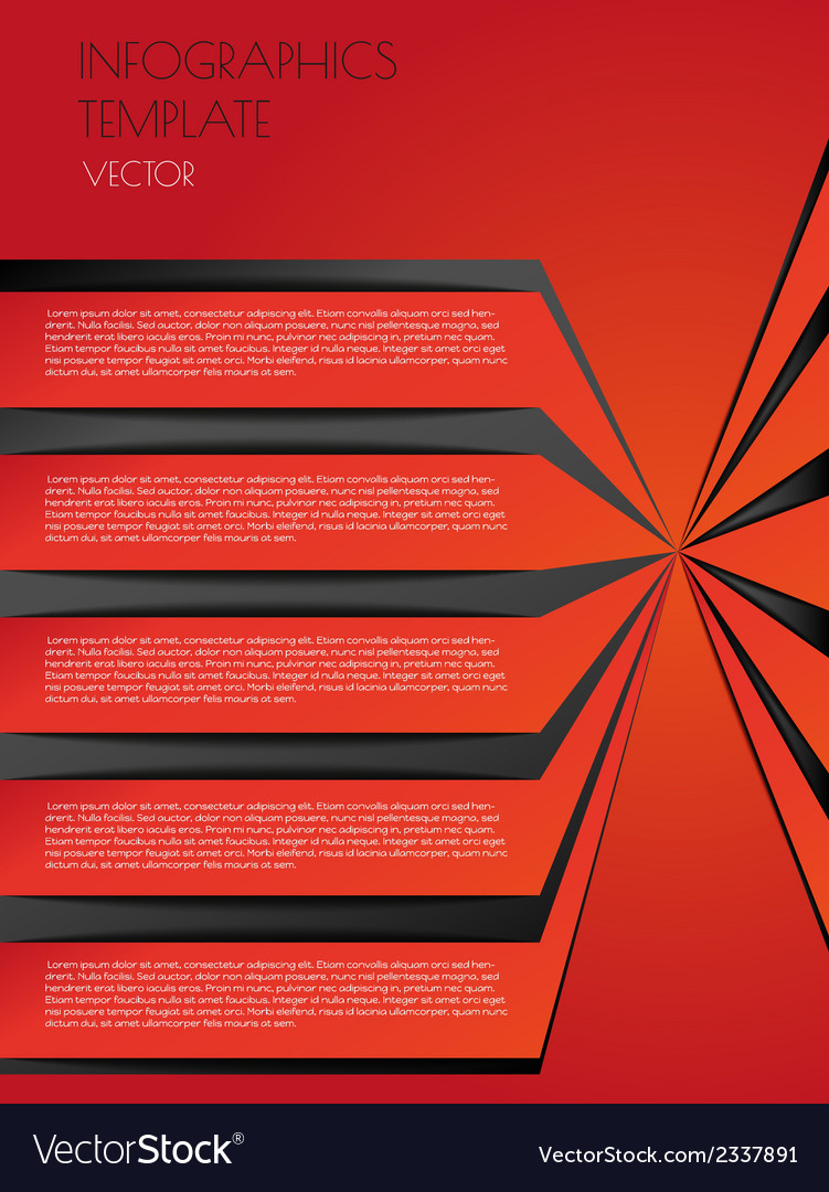 Red infographics vector | Price: 1 Credit (USD $1)