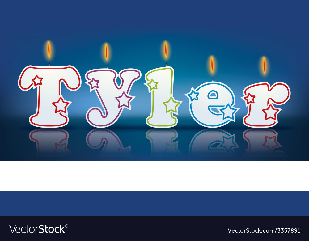 Tyler written with burning candles vector | Price: 1 Credit (USD $1)