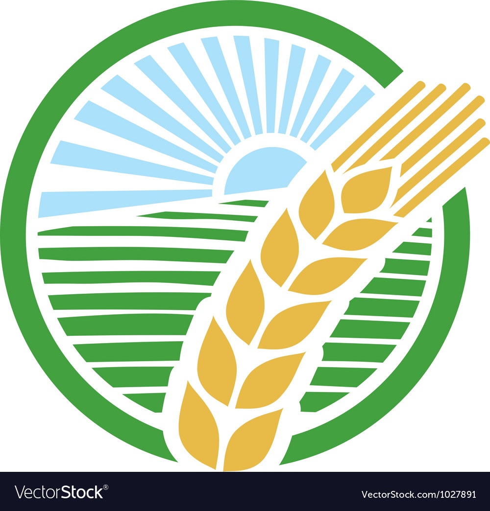 Wheat label vector | Price: 1 Credit (USD $1)