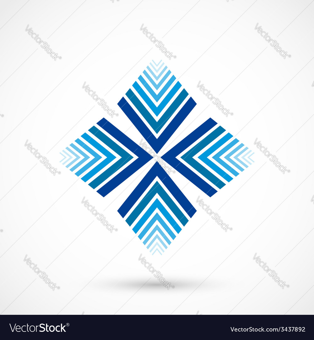 Abstract snowflake vector | Price: 1 Credit (USD $1)