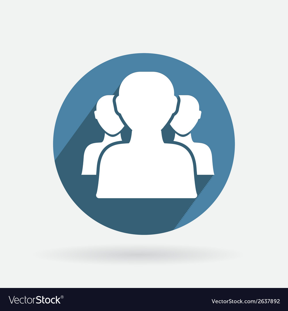 Blue icon silhouette of a men social media vector | Price: 1 Credit (USD $1)