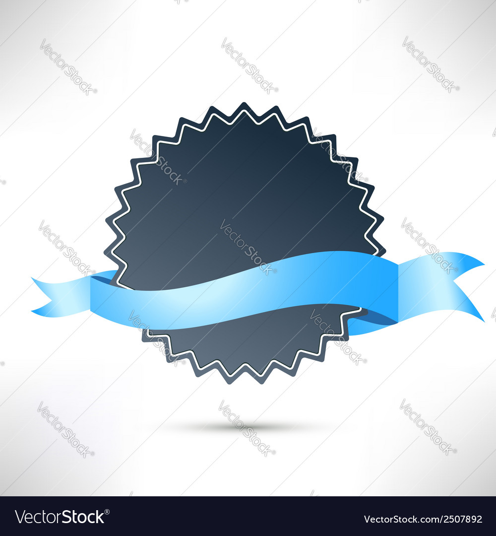 Flat modern badge ribbon template vector | Price: 1 Credit (USD $1)