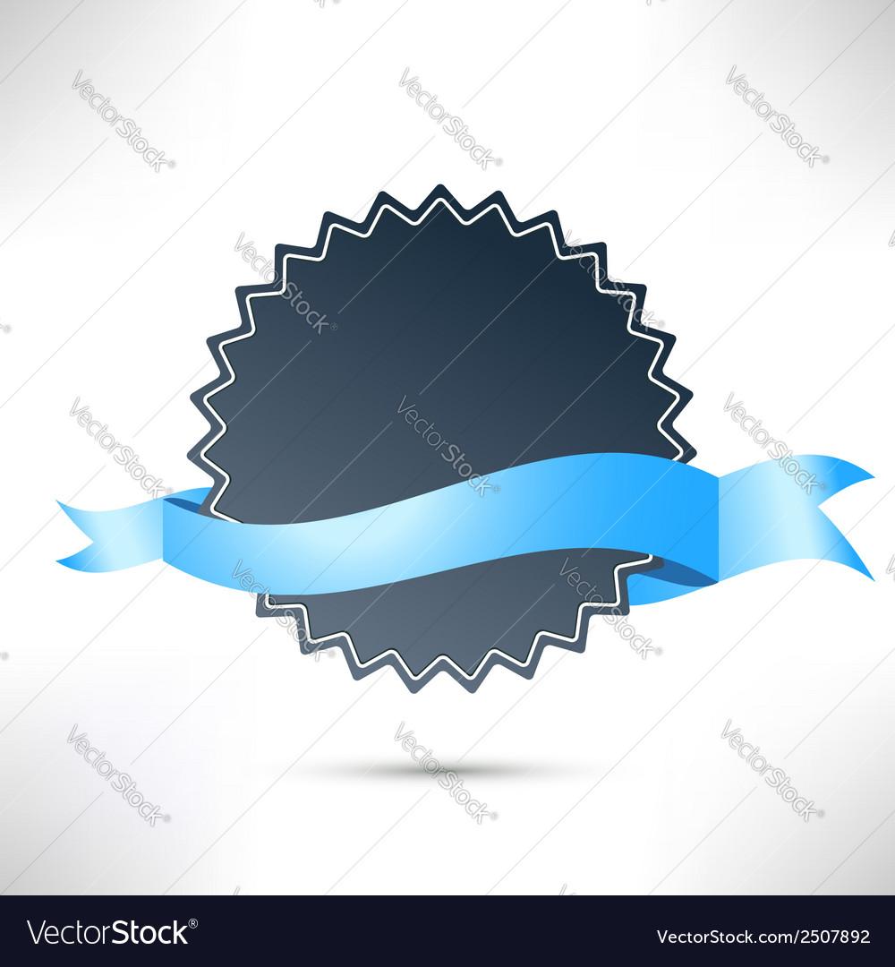 Flat modern badge ribbon template vector | Price: 1 Credit (USD $1)