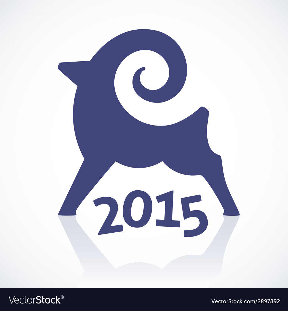 Geometric symbol of a goat 2015 vector | Price: 1 Credit (USD $1)