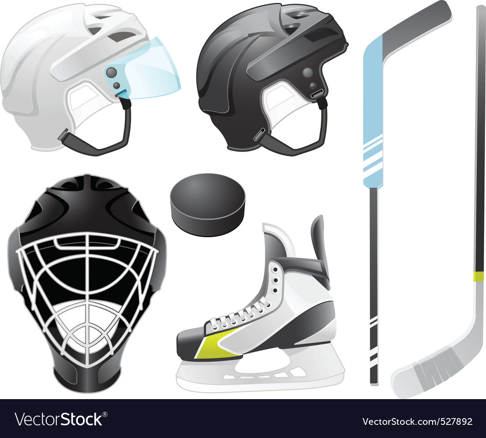 Hockey accessories vector | Price: 3 Credit (USD $3)