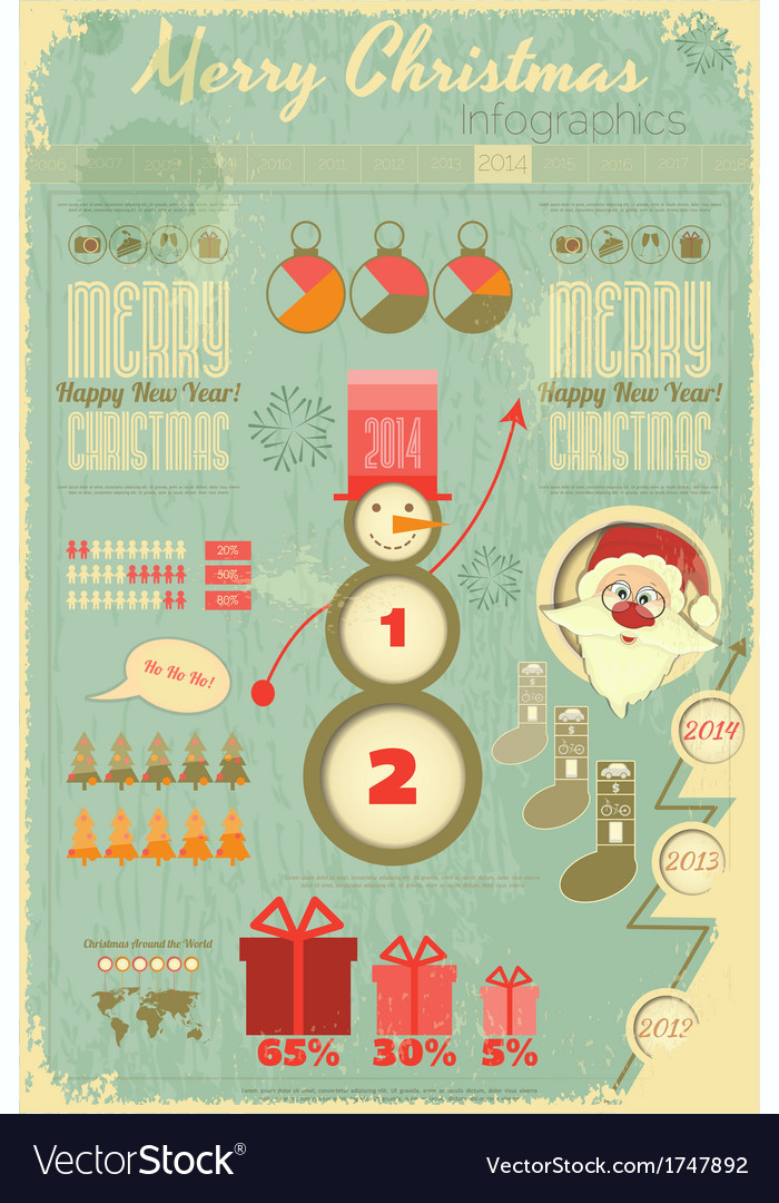 Infographic with santa claus vector | Price: 1 Credit (USD $1)