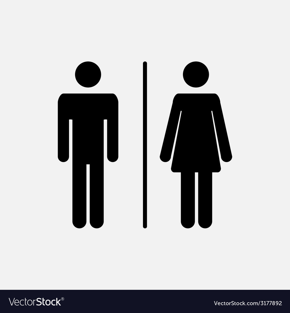 Male and female icon vector | Price: 1 Credit (USD $1)