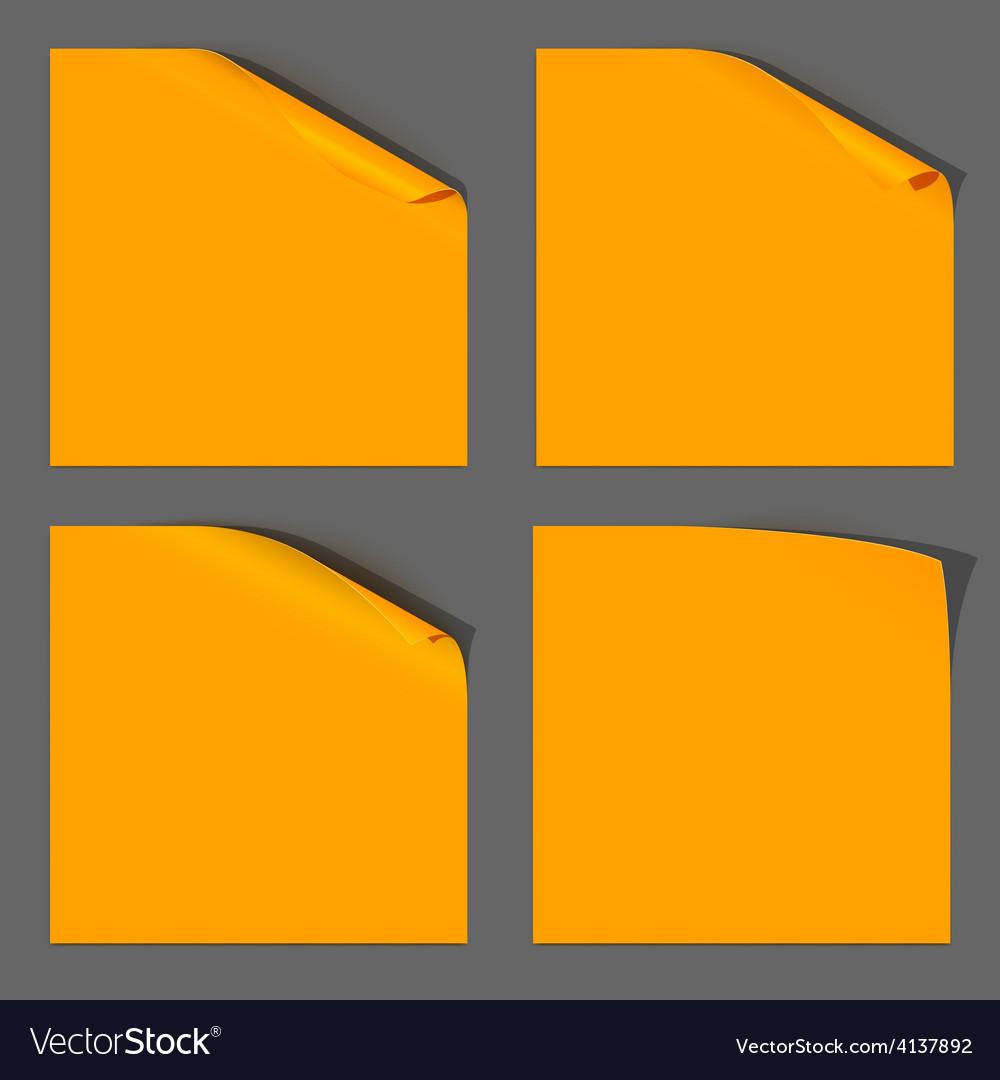 Orange paper curled corner vector | Price: 1 Credit (USD $1)