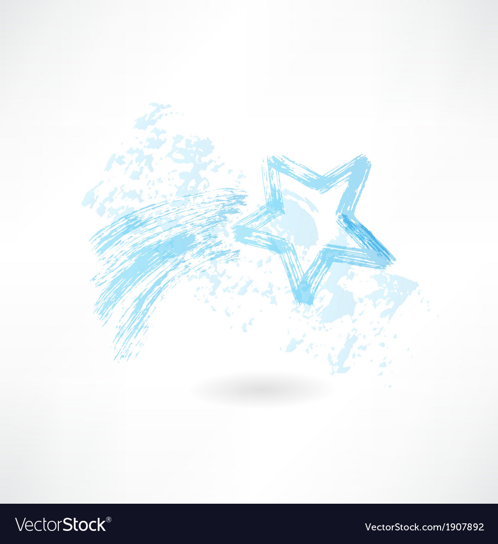 Shooting star grunge icon vector | Price: 1 Credit (USD $1)
