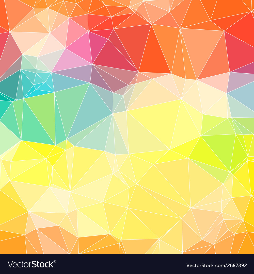 Triangle colorful abstract background template for vector | Price: 1 Credit (USD $1)
