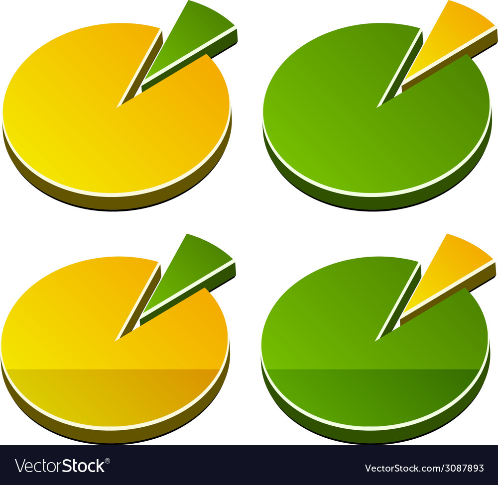 3d rounded graphs vector | Price: 1 Credit (USD $1)
