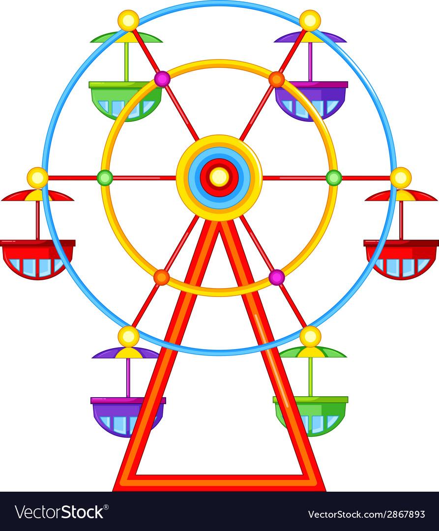 A ferris wheel ride vector | Price: 1 Credit (USD $1)