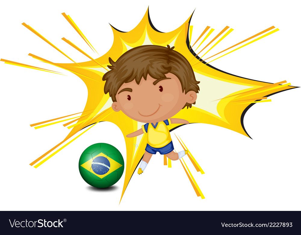A football player from brazil vector | Price: 1 Credit (USD $1)