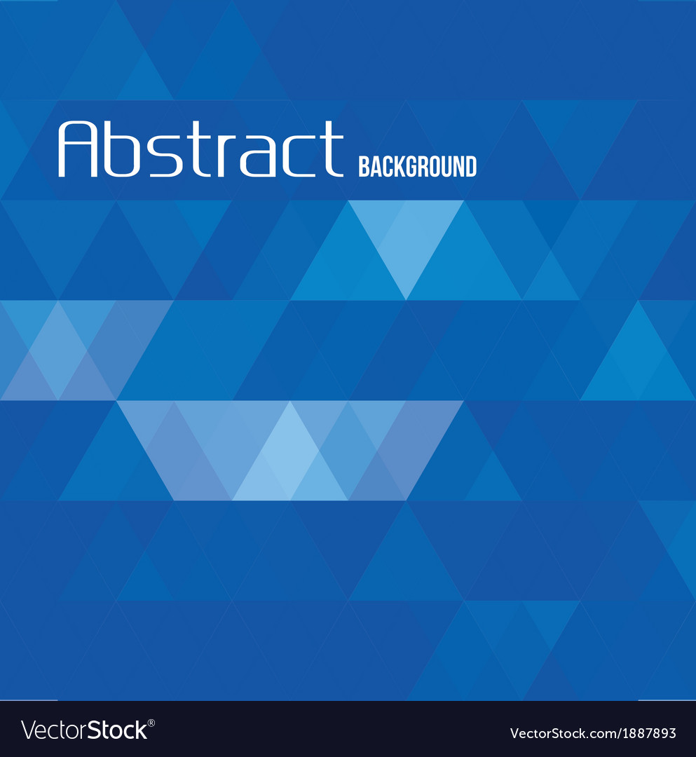 Abstract triangle blue background for templates vector | Price: 1 Credit (USD $1)