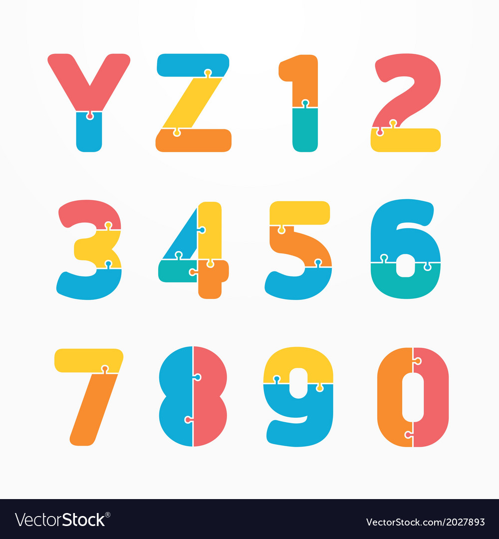Alphabet jigsaw concept concept banner vector | Price: 1 Credit (USD $1)
