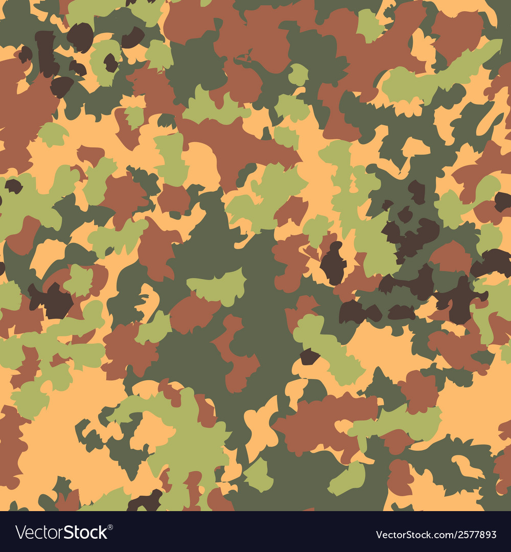 Camouflage seamless pattern woodland style vector | Price: 1 Credit (USD $1)
