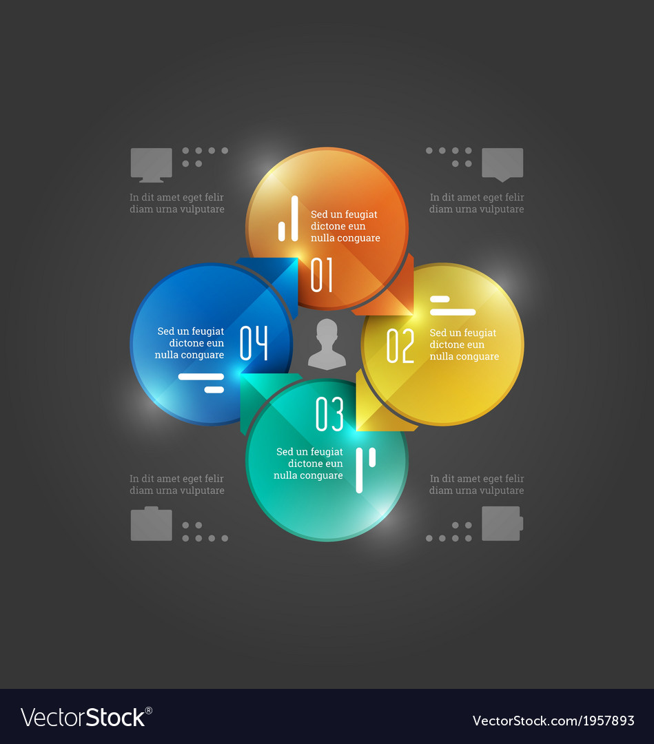 Creative infographics circles diagram vector | Price: 1 Credit (USD $1)