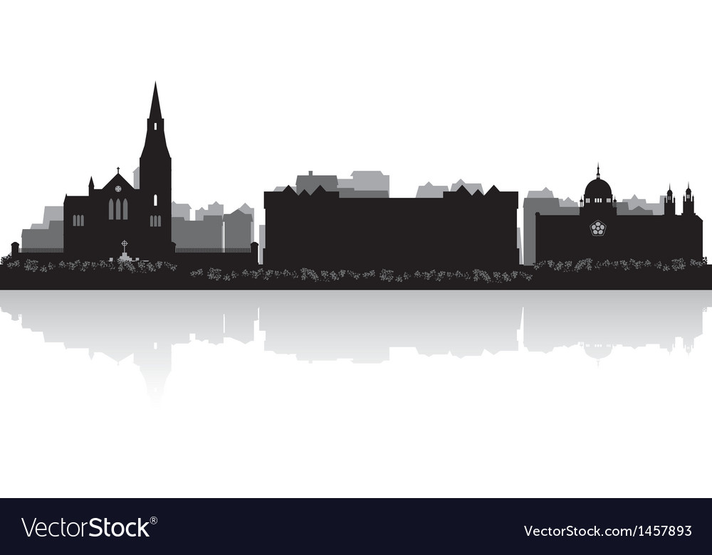 Galway city skyline silhouette vector | Price: 1 Credit (USD $1)