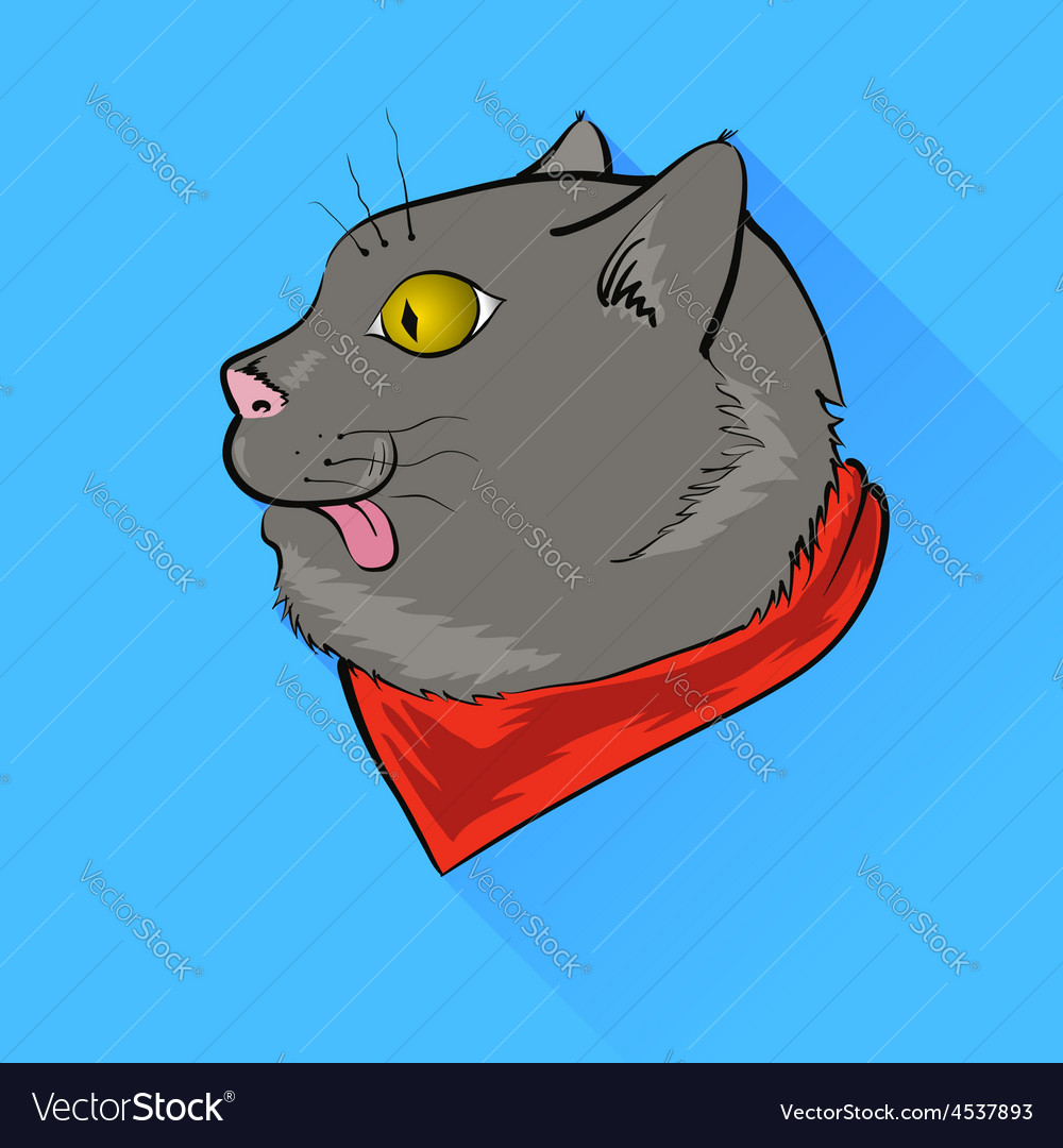 Grey cat vector | Price: 1 Credit (USD $1)