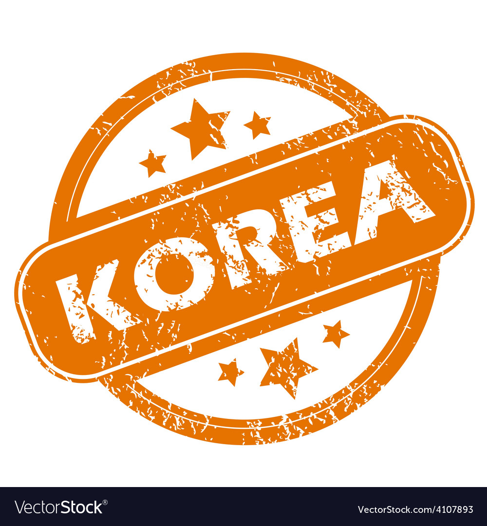 Korea grunge icon vector | Price: 1 Credit (USD $1)