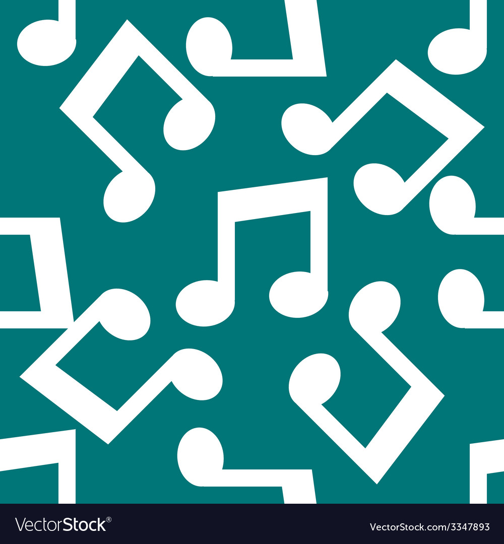 Music note web icon flat design seamless pattern vector   Price: 1 Credit (USD $1)