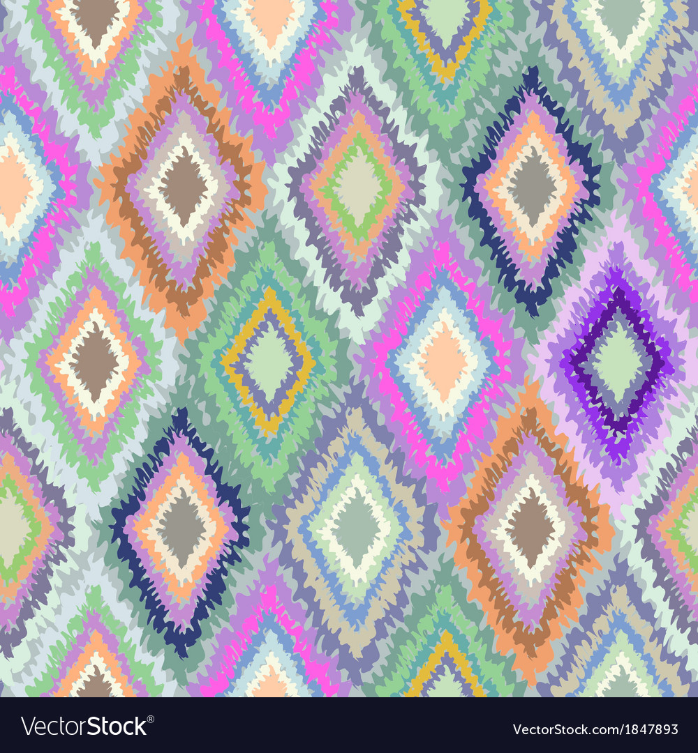 Pretty geometric ikat print vector | Price: 1 Credit (USD $1)