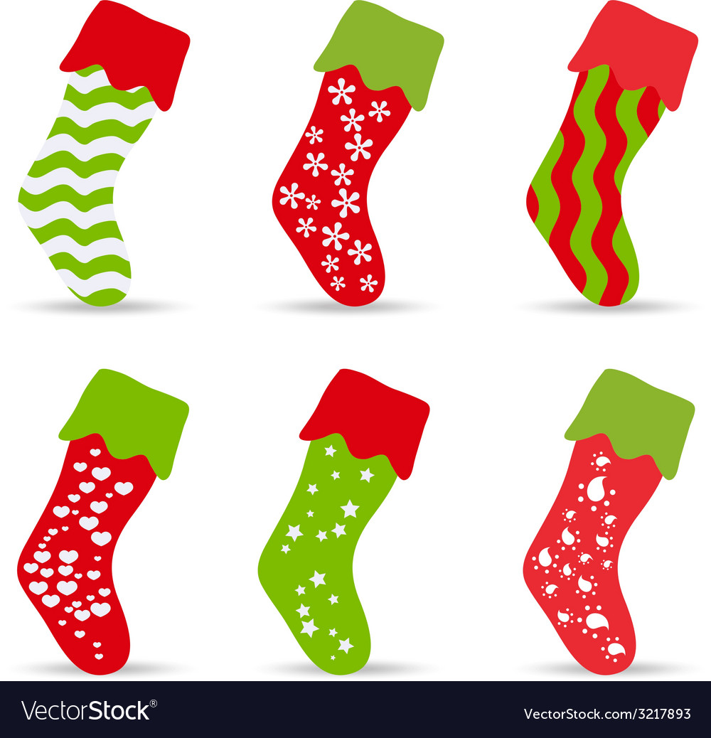 Set of winter socks for design vector | Price: 1 Credit (USD $1)