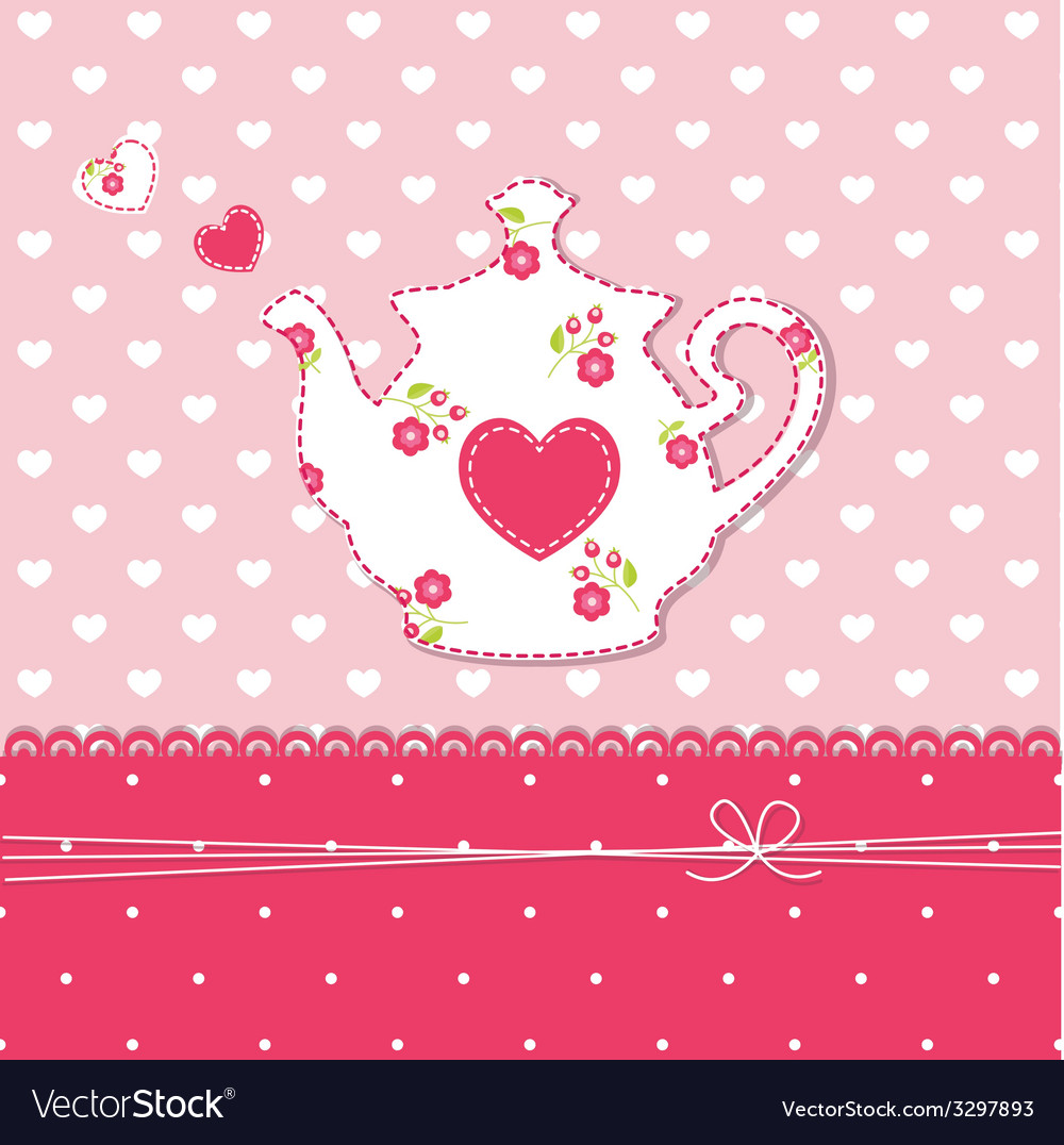 Teapot background vector