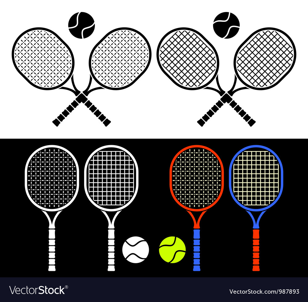 Tennis rackets vector | Price: 1 Credit (USD $1)