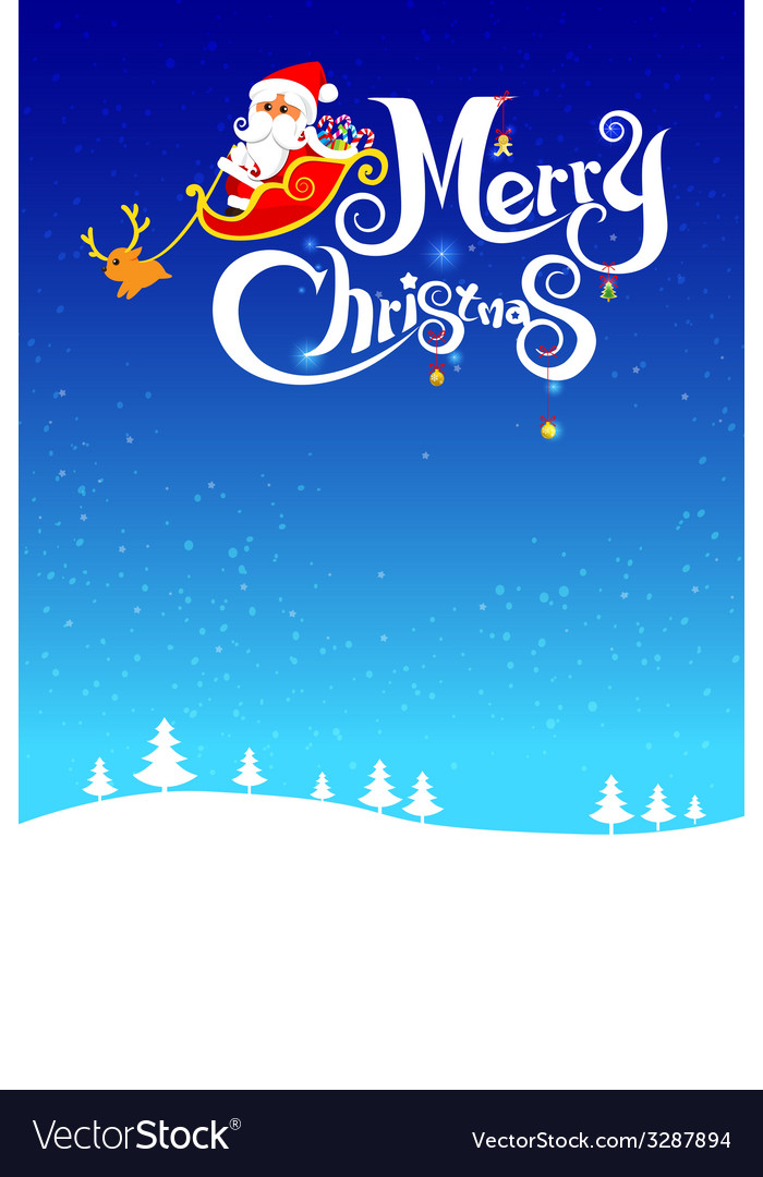 023 merry christmas santa and night background 003 vector | Price: 1 Credit (USD $1)