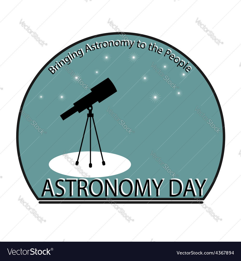 Astronomy day vector | Price: 1 Credit (USD $1)