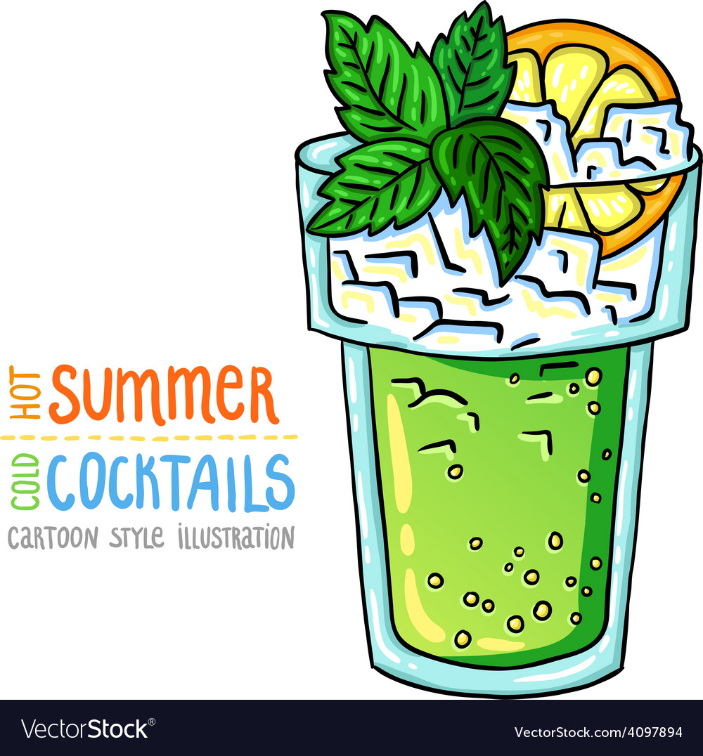 Cocktails one cartoon 2 vector | Price: 1 Credit (USD $1)