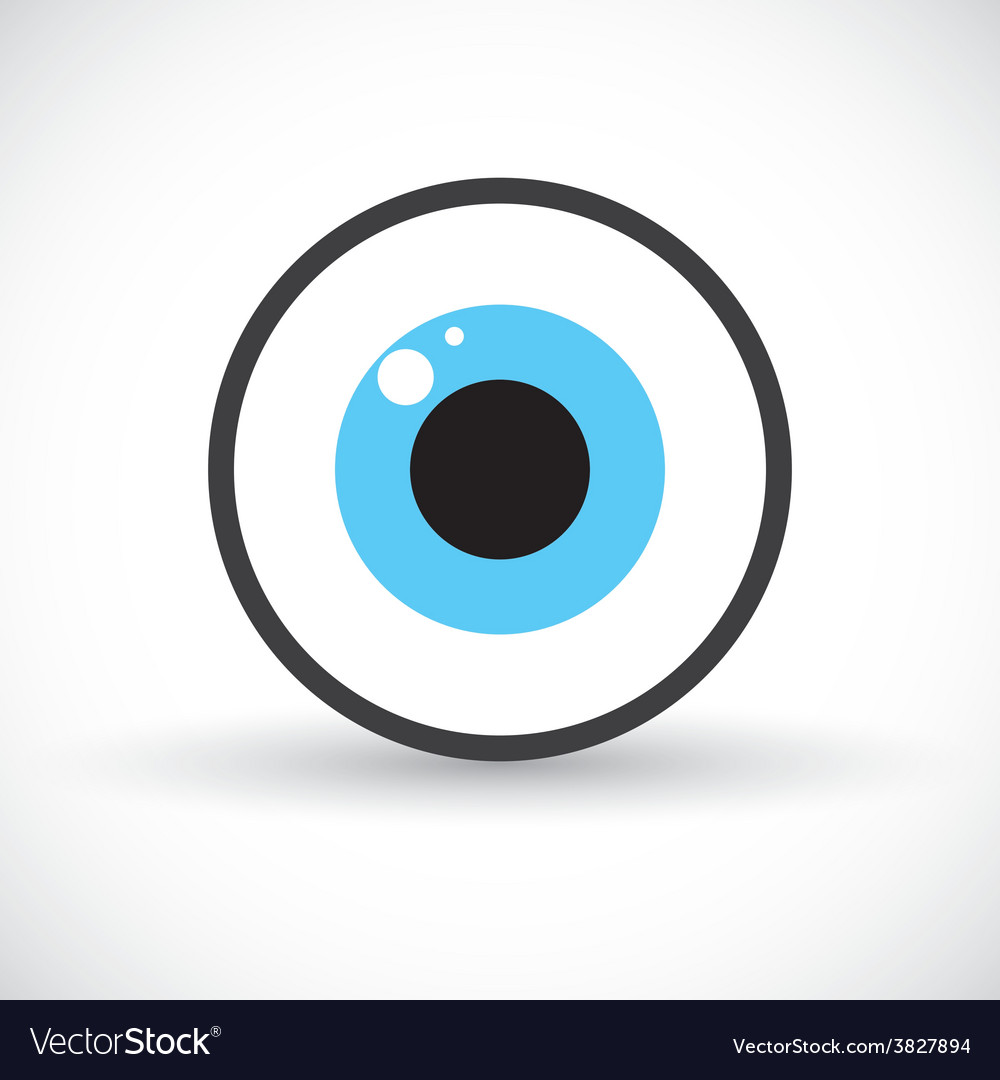 Eye symbol icon vector | Price: 1 Credit (USD $1)